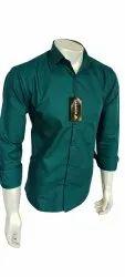 Men Dark Green Cotton Shirt
