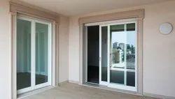 UPVC White Sliding Door, Glass Thickness: 18 Mm
