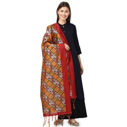 Kota Silk Check Print Dupatta