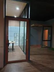 Hinged Plain Glass Doors, For Hotel, Thickness: 12 Mm