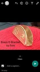 D Bracket Brass Folding
