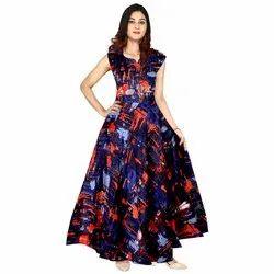 Anarkali Stitch Festive Wear Women Rayon Long Gown, Size: Free Size