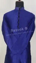 Blue Dupion Silk Kurta Pyjama