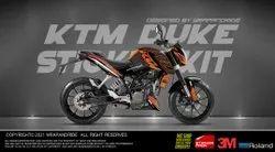 Ktm Duke Orange Design 390 Full Body Wrap,Decals,Sticker,Kit