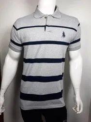 Collar Stripes T Shirt