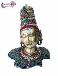 Nirmala Handicrafts Brass Handicrafts Parvati Antique Statue Table Decor Showpiece Gift Item