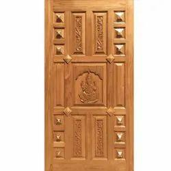 Pooja Room Teak Wood Door