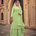 Heavy Georgette Ready Made Salwar Suit
