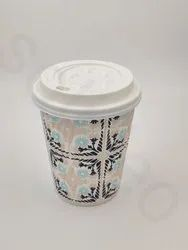 Generic Printed Ripple Paper Cup With Lid, For Coffee, Capacity: 340 ML