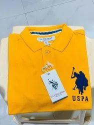 Cotton Original Branded Surplus Collar T Shirts, Size: Medium