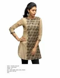 Cotton Straight Formal Ladies Kurti, Wash Care: Machine wash