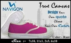 PVC Synthetic Lace Up Navigon Pink Casual Shoes