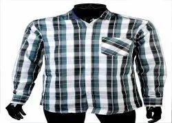 Mens Cotton Checkered Shirts, Handwash