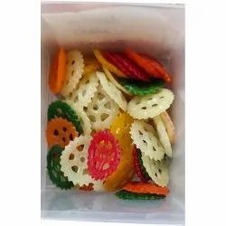 Premium Quality 1 KG Round Wheel Fryums, Packaging Type: Packet