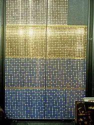 Gold glitter wall tiles