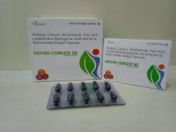 Ginseng, Calcium, Nicotinamide, Multivitamin & Multimineral Soft Gelatin Cap.