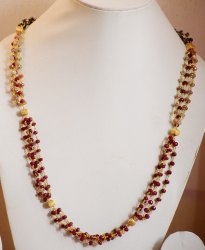 Samir Gems Gemstone Red Ruby Chain Necklance