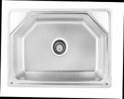 Kindle Stainless Steel Single Bowl Kitchen Sink, Size: 24*18*8