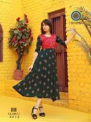 Aradhana Glam Girl Vol 4 Series 4001-4012 Rayon With Embroidery Work Kurti