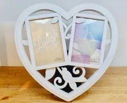 Heart Shape Couple Photo Frame