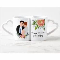 Sublimation Wedding Couple Photo Rocks Mug