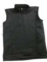 Casual Jackets Blended Mens Black Sleeveless Jacket