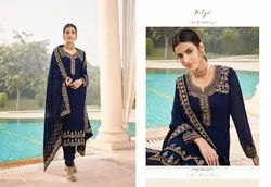 Lt Nitya Zyrah Series 101-105 Georgette Traditional And Festival Wear Suits