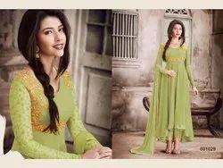 Party Wear Normal Salwar Nairra 1029 Pakistani Georgette Suits, Dry clean