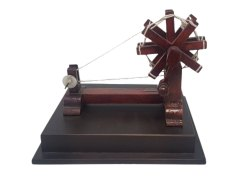 Wooden Handicraft Decorative Spinning Wheel Mini Wooden Charkha