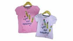 Girls Kids Printed T Shirt