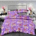 Purple Designer Double Bed Sheet