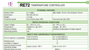 RE 72 Temperature Controllers