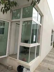 White Office UPVC L Window, Glass Thickness: 5 Mm
