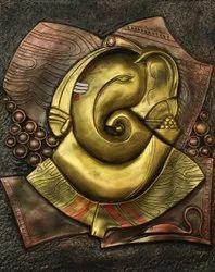Abstract Ganesha mural