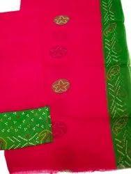 Shrinath Textile 44 Inch Ladies Pink Cotton Printed Jod Fabric, For Kurti