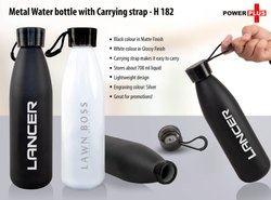 Metal Water Bottle With Carrying Strap