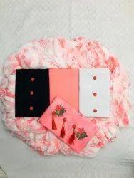 Lakda Cotton Pink 3 Top Dress Material