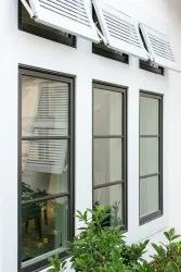 White Polished Outdoor Aluminium Casement Window, For Residential, Size/Dimension: 8x6 Feet