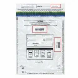 LDPE Printed Multiple Receipt Tamper Evident Bag, For Courier, Thickness: 1.5 Mm
