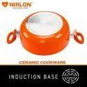 CSS-22 2.6L Nirlon PTFE Coating Aluminum Ceramic Casserole With Lid