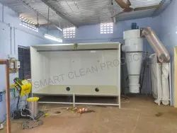 SMART Steel Industrial Powder Coating Booth, Cross-Flow Type, Automation Grade: Semi-Automatic