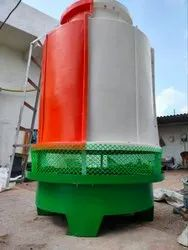 Fiberglass Reinforced Polyester Counter Flow Cooling Tower, Induced Draft, Cooling Capacity: 10 Tr