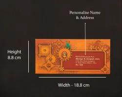 Orange Matt Thermal Laminated NP926 Printed Fancy Cash Envelope, Thickness: 200 Gsm