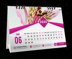 4 Days Paper Table Calendar Printing Service, in Pan India, Dimension / Size: 7x9.5 Inch