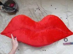 Lip Shape Pillow Made In Plush Soft Fabric