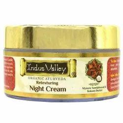 Indus Valley Retexturing Night Cream, For intense skin nourishment, Packaging Size: 50 Ml