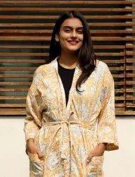 Indian Cotton Floral Printed Kimono