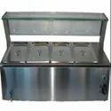 SS Four Compartment Bain Marie Counter