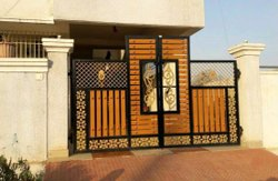 Hinged Fancy SS Main Gate, For Home, Size: 8x12 Feet