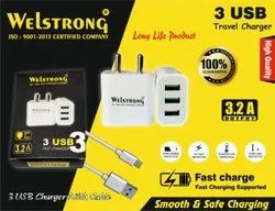 Ampere: 3amp 3 Usb Charger, Welstrong